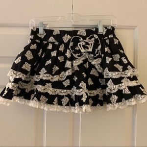 HOT TOPIC SWEET LOVE  skirt w/bows, lace, crown